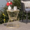 """Lassen 16"""" Iron Patio Side Table - Christopher Knight Home - image 2 of 4"""
