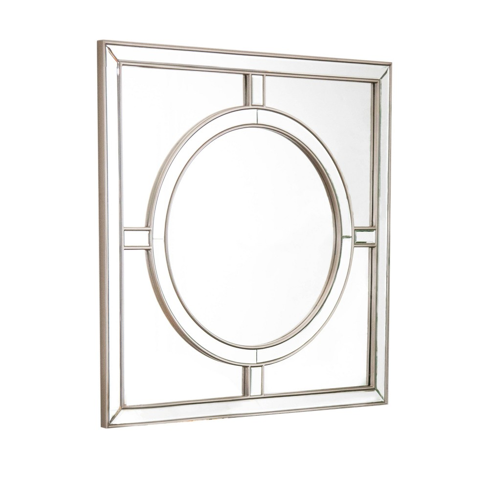 Sienna Starboard Square Wall Mirror Champagne - Abbyson Living, Silver