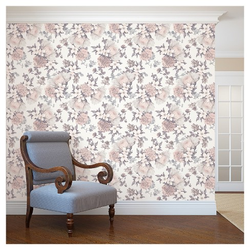 Tempaper Botanical Blossom Removable Wallpaper