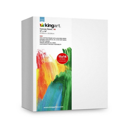 "Kingart 11"" x 14"" 14pc Canvas Panel Board Value Pack - image 1 of 3"