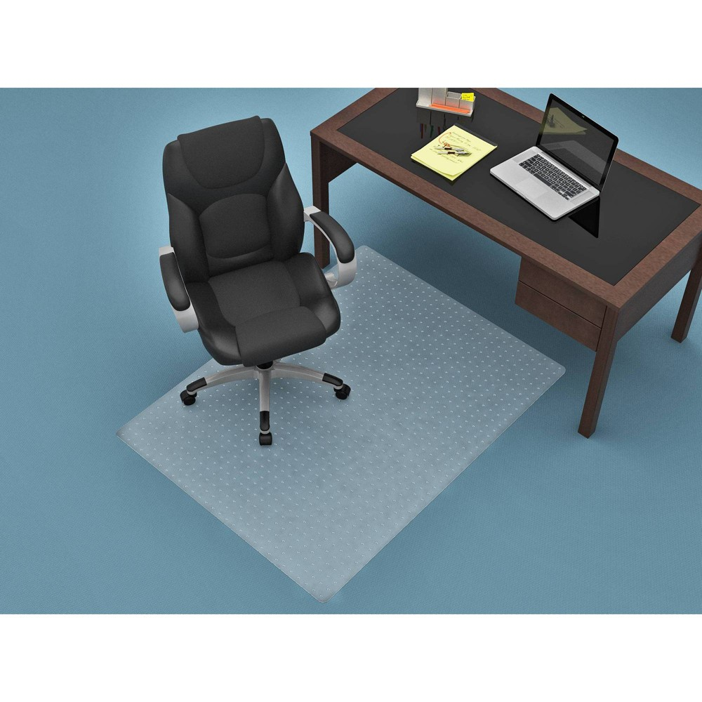 Image of 36 x 48 Flat Pile Chair Mat Clear - Monroe + James
