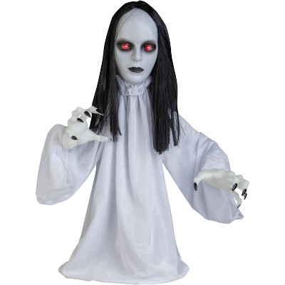 Gemmy 2.5ft Lifesize Animated Pop Up Goth Ghoul, white