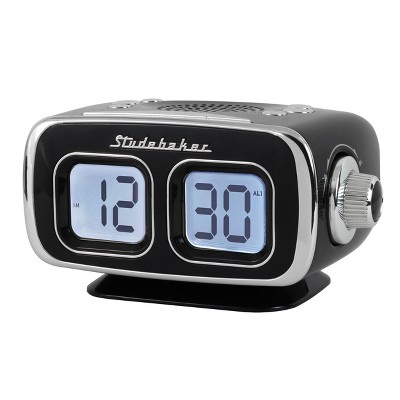 Studebaker Retro Digital Bluetooth AM/FM Clock Radio (SB3500BK) - Black
