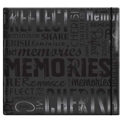 Gloss Post Bound Scrapbook Memories - Black