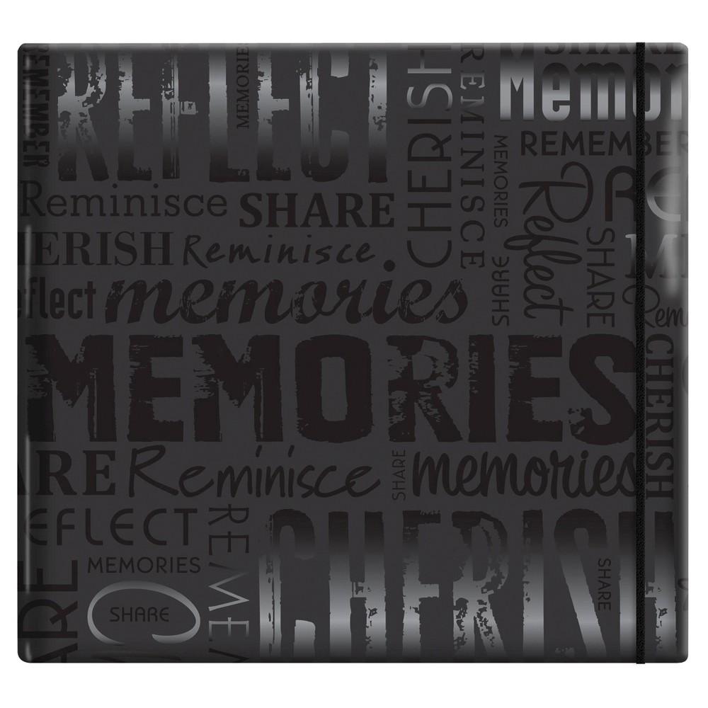Image of Gloss Post Bound Scrapbook Memories - Black