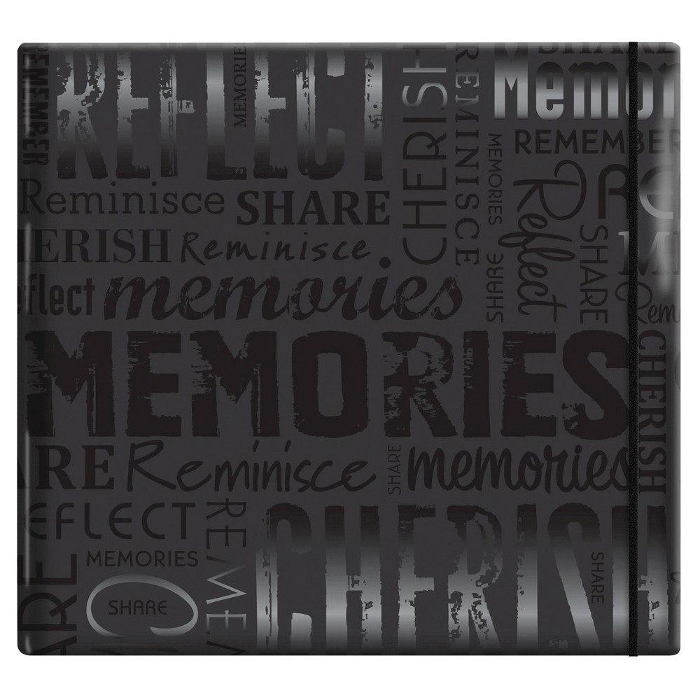 Image of Gloss Post Bound Scrapbook Memories - Black
