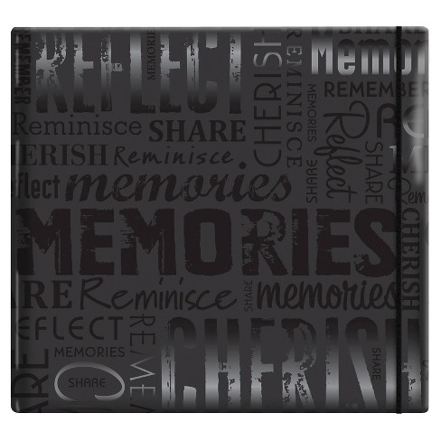 Gloss Post Bound Scrapbook Memories - Black - image 1 of 1