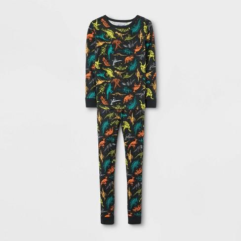 Boys' Dinosaur Pajama Set - Cat & Jack™ Charcoal - image 1 of 1