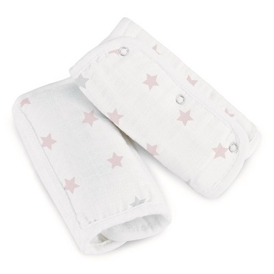 aden by aden + anais Car Strap Covers - Darling Pink