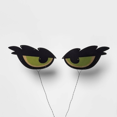 Incandescent Wolf Eyes Halloween Silhouette Light Green - Hyde & EEK! Boutique™ - image 1 of 2