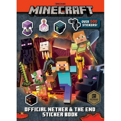 Minecraft Official the Nether and the End Sticker Book (Minecraft) - by  Stephanie Milton (Paperback)