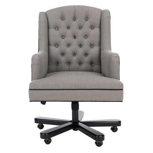 Nichols Desk Chair Gray - Safavieh - image 1 of 8
