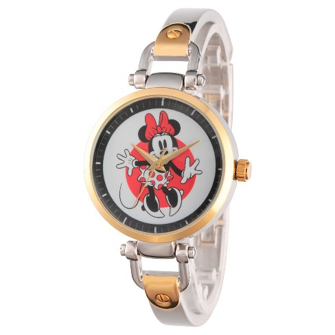Women's Disney Minnie Mouse Two Tone Alloy Bridle Watch - Two Tone - image 1 of 2