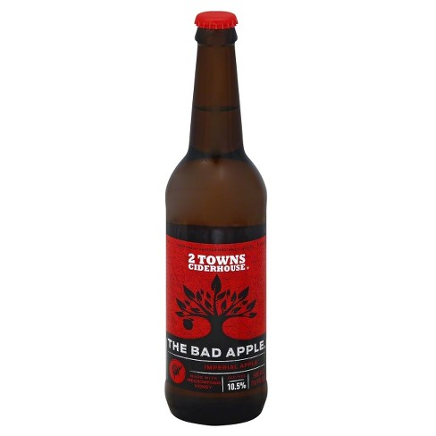 2 Towns® Ciderhouse The Bad Apple Cider - 16.9oz Bottle - image 1 of 1