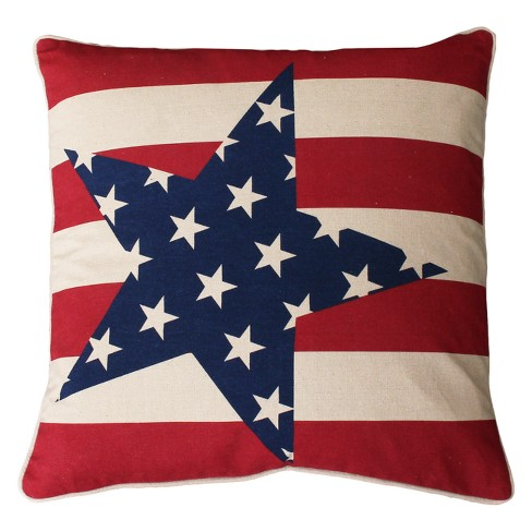 "Décor Therapy 20""x20"" Stars And Stripes Throw Pillow Red - image 1 of 1"