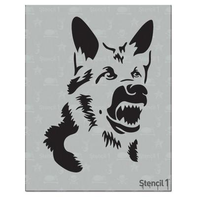"""Stencil1 German Sheperd - Stencil 8.5"""" x 11"""""""