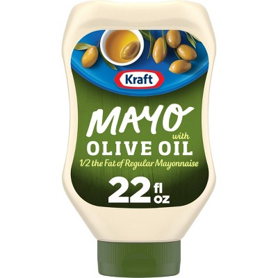 Kraft Reduced Fat Mayonnaise with Olive Oil Squeeze Bottle 22oz