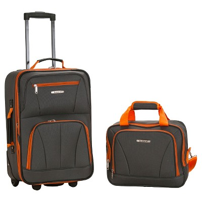 Rockland Fashion 2pc Luggage Set - Charcoal