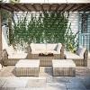 7pc Wicker Rattan Patio Set - Beige - Accent Furniture - image 3 of 4