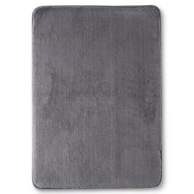 24  x 17  Velveteen Memory Foam Bath Rug Pigeon Gray - Room Essentials™