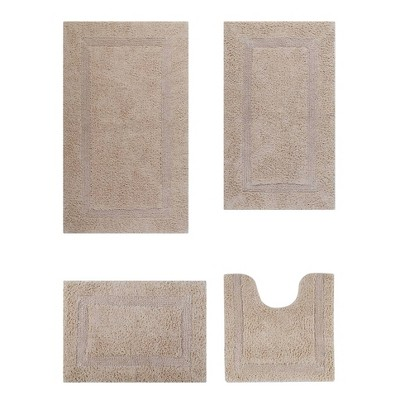 4pc Lux Collection Bath Rug Set Sand - Better Trends