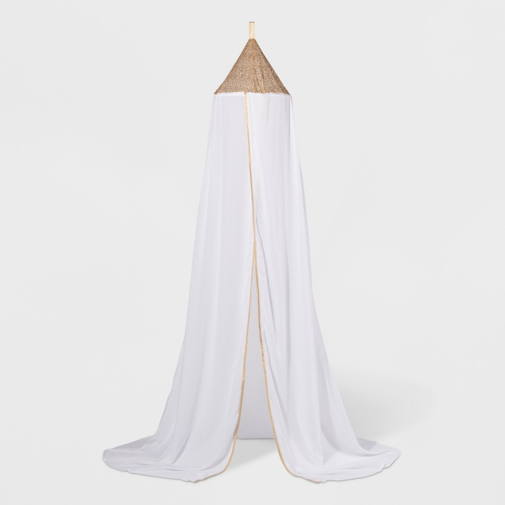 Image of Sequin Bed Canopy White - Pillowfort