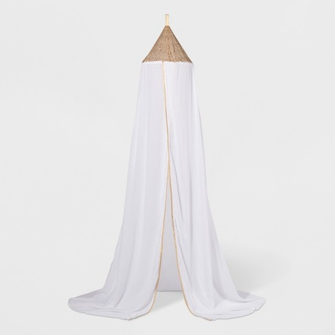 Sequin Cot Canopy White - Pillowfort™ - image 1 of 4