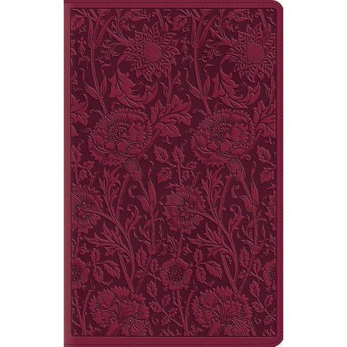 Large Print Compact Bible-ESV-Floral Design - (Leather_bound) - image 1 of 1