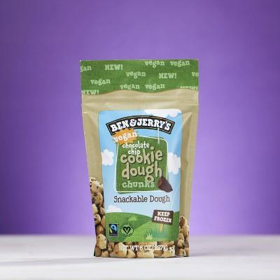 Ben & Jerry's Vegan Frozen Chocolate Chip Cookie Dough Chunks Snackable Dough - 8oz
