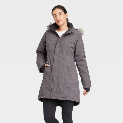 Women's Faux Fur Parka Jacket - All in Motion™ - image 1 of 4