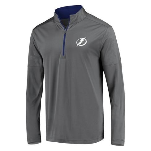 NHL Tampa Bay Lightning Men's Defender Embossed 1/4 Zip Hoodie - Gray - image 1 of 3