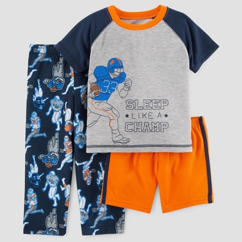 Toddler Boys' 3pc Sleep Like a Champ Pajama Set - Just One You® made by carter's Gray - image 1 of 1
