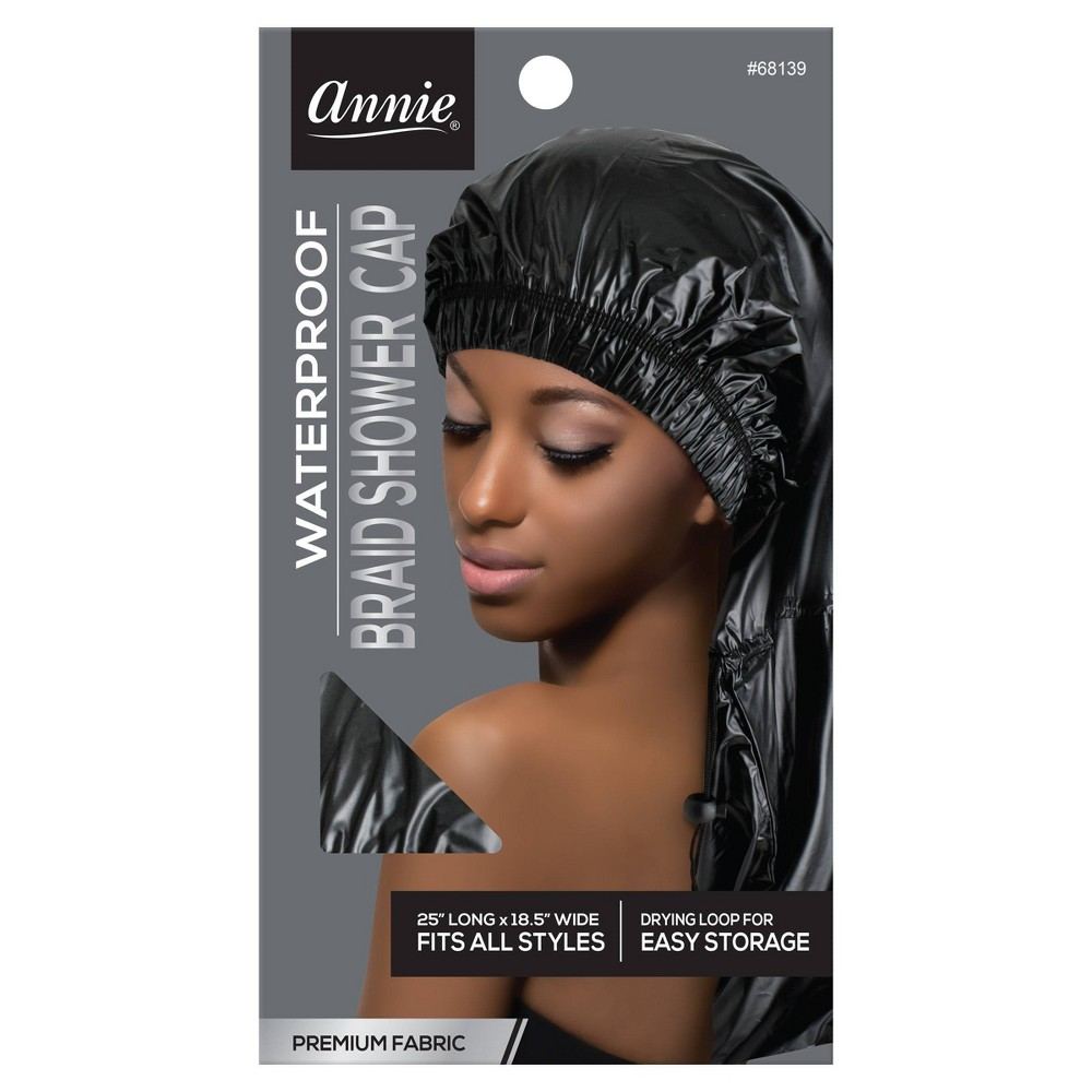 Annie Max Jumbo Braid Shower Cap Black