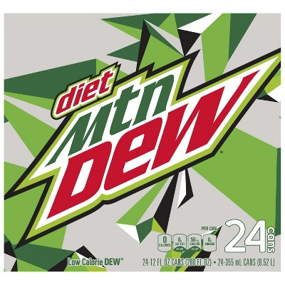 Diet Mountain Dew Soda - 24pk/12 fl oz Cans