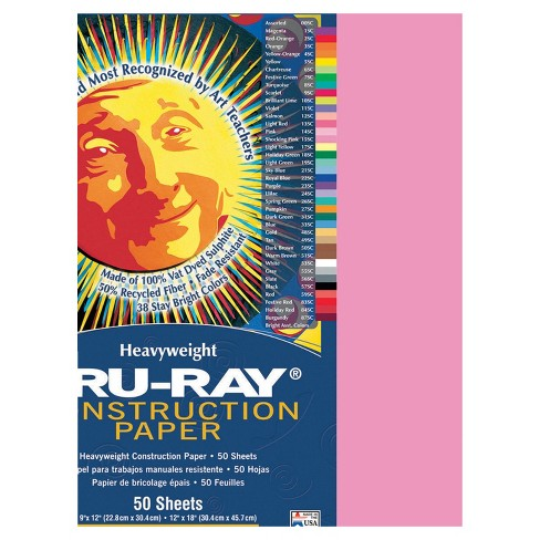 Tru-Ray Sulphite Construction Paper, 18 x 24 Inches, Shocking Pink, 50 Sheets - image 1 of 1