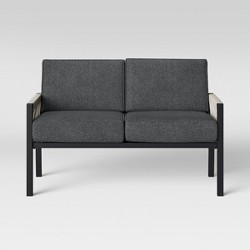 Lunding Patio Loveseat Charcoal - Project 62™