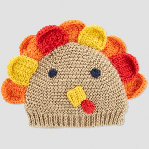 Babys' Thanksgiving Turkey Hat - Just One You® made by carter's Beige One Size - image 1 of 3