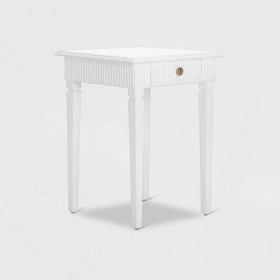 Atwood Side Table with Drawer White - Finch