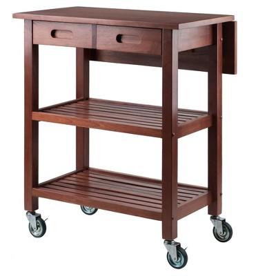 Jonathan Kitchen Cart - Walnut - Winsome