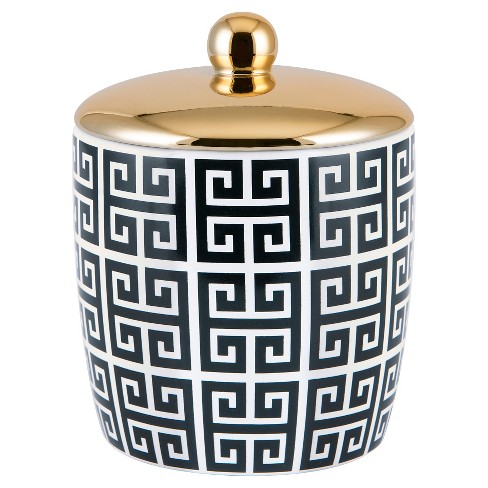 Derby Cotton Ball Jar Black/White - Allure Home Creations - image 1 of 3