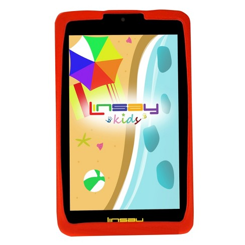 "LINSAY 7"" Kids Funny Tablet Quad Core Bundle with Red Kids Defender Case 16GB - image 1 of 3"