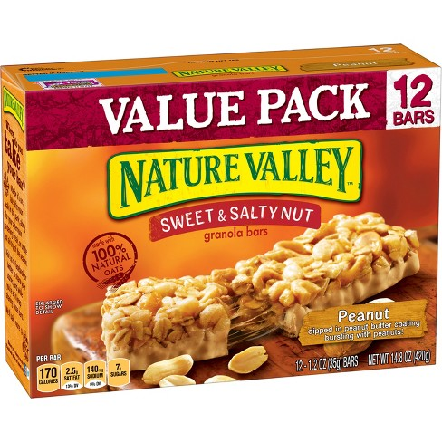Nature Valley Sweet & Salty Nut Peanut Granola Bars - 1.2oz 12ct - image 1 of 3