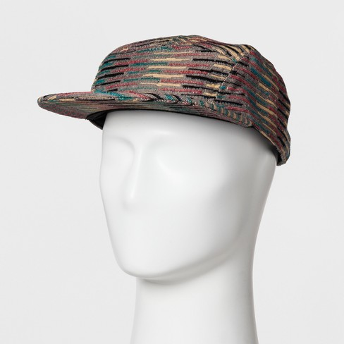 Men s Striped Flat Brim Baseball Hat - Goodfellow   Co™ One Size   Target b7f27657e2e8
