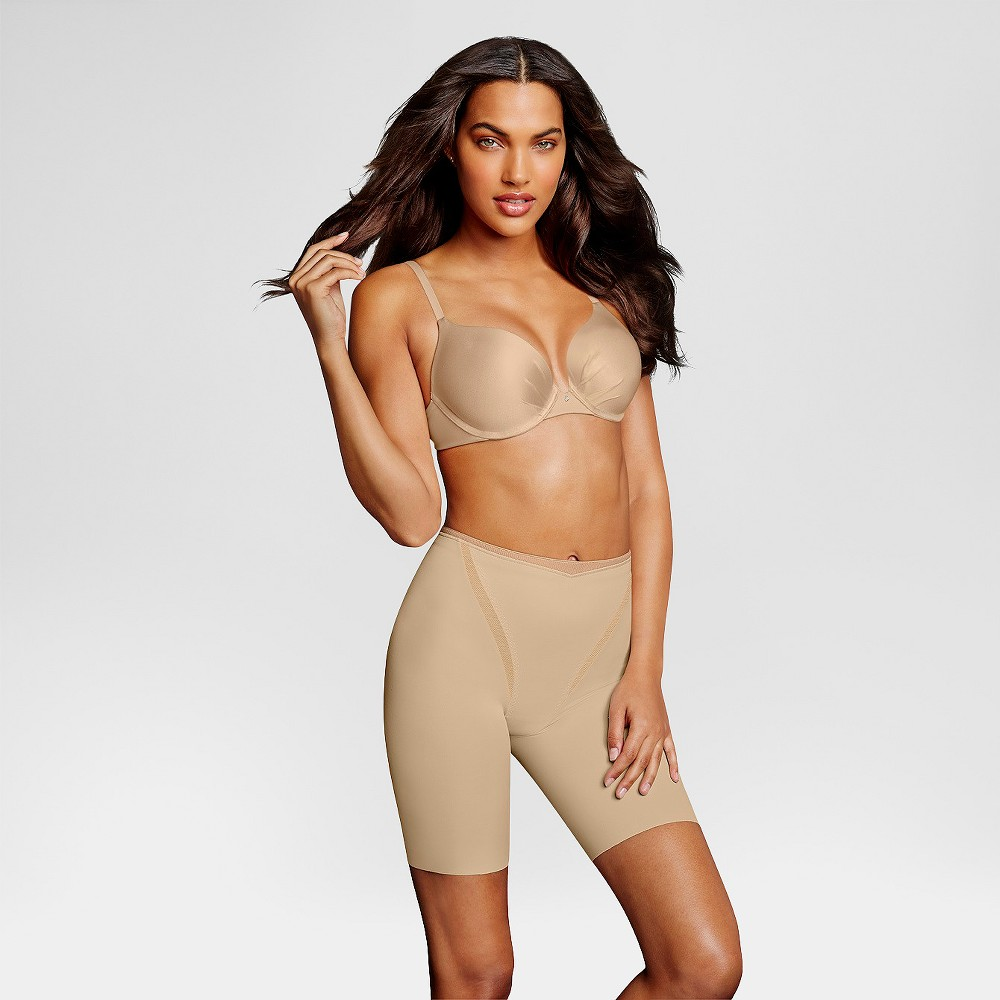 Maidenform Self Expressions Women's Firm Foundations at Waist Thigh Shapers - Nude XL