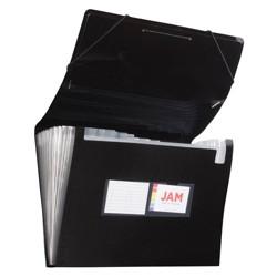 "JAM Paper 10"" x 15"" 13 Pocket Plastic Expanding File Folder - Legal Size"