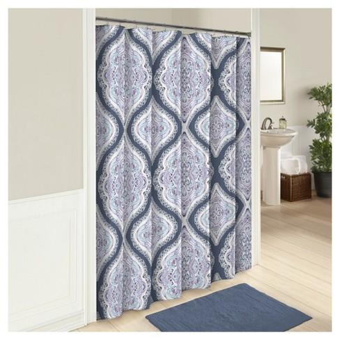 Lotus Shower Curtain Blue