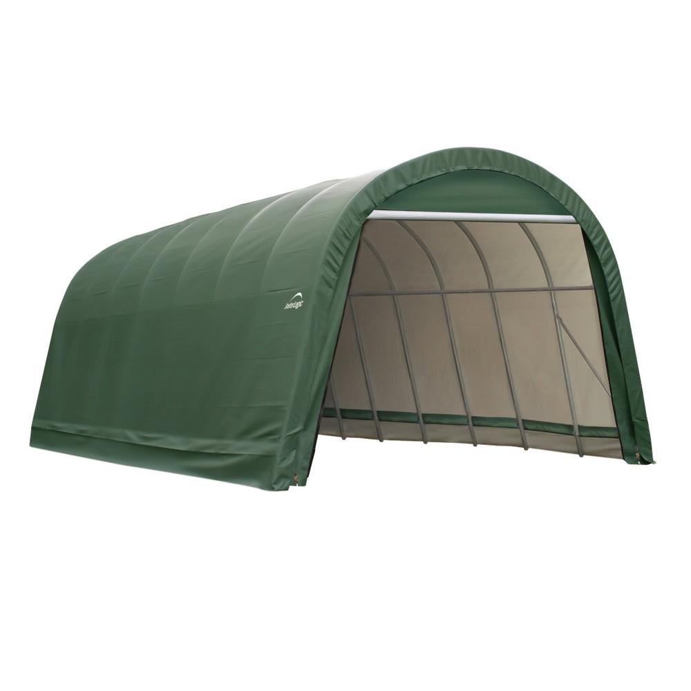15' x 20' x 12' Round Style Shelter - Green - Shelter Logic