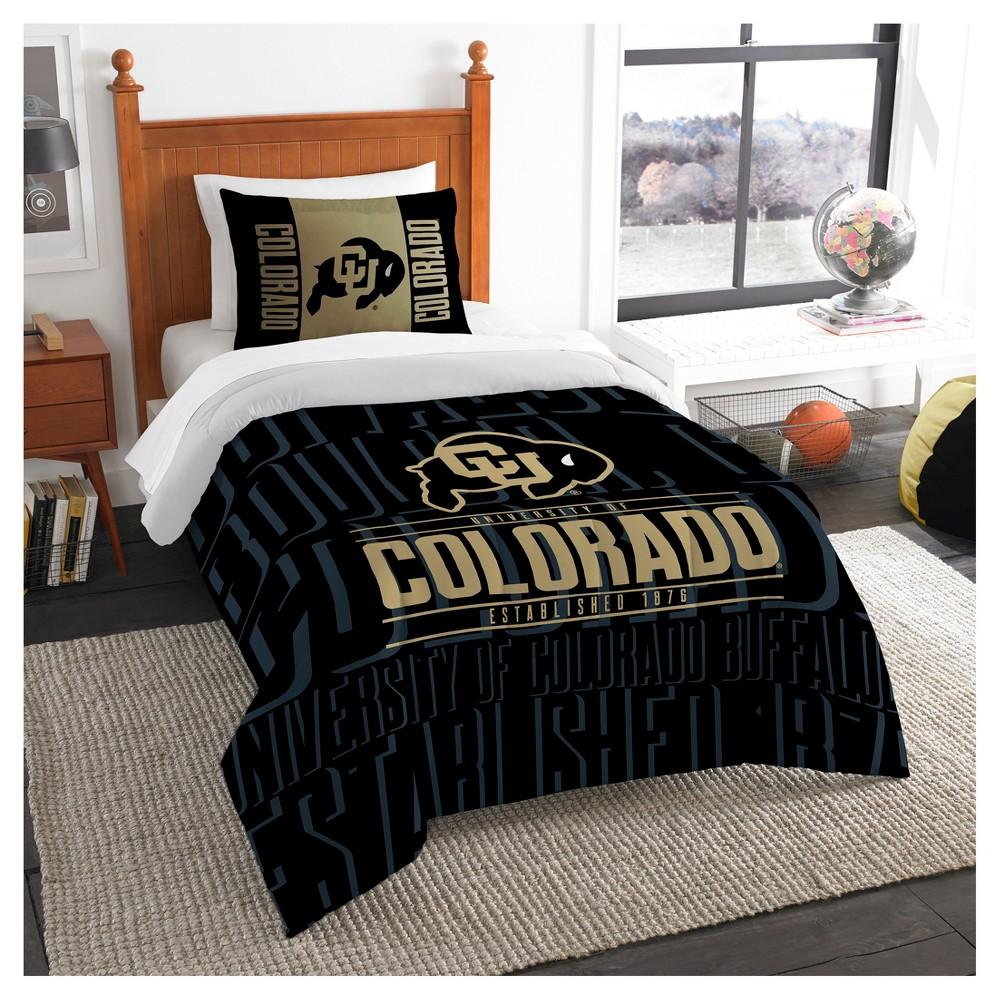 NCAA Northwest Modern Take Twin Comforter Set Colorado Buffaloes - 64 x 86