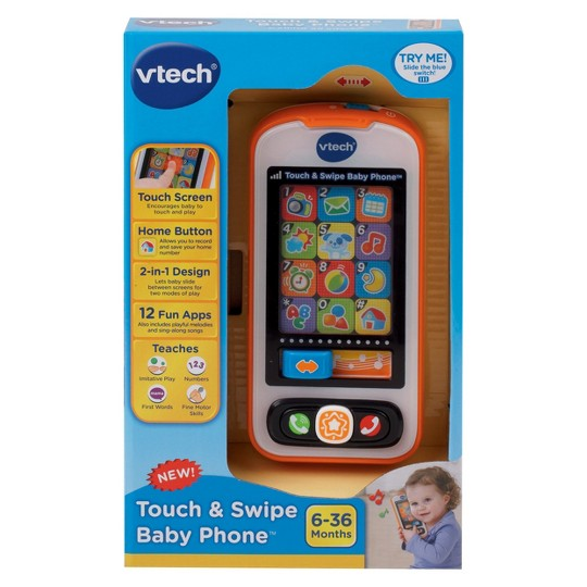 VTech Touch and Swipe Baby Phone image number null