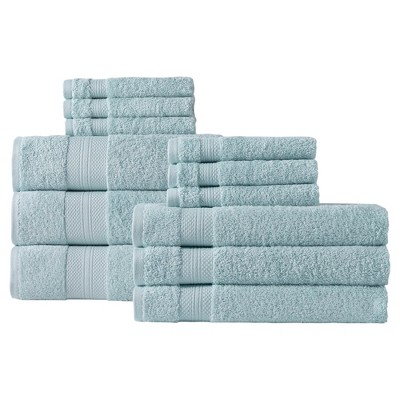Chloe Bath Towel Set 12pc Green - Makroteks®